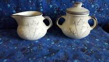 Canadian Pottery Creamer & Sugar Bowl; Pussy Willows; 587