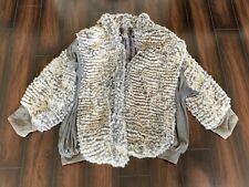 VTG Women's Size M Custom Made Oversized Jacket Coat Rabbit Fur Leather Canada