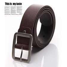Cinturón Cuero de Hombre Hebilla Metal Cintura Cinturones Correa Belts