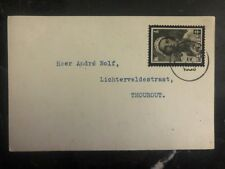 1936 Roeselare Belgium Philatelic Postcard Cover To Thourout Queen Astrid Stamp