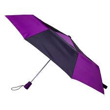 Totes Auto Open Double Canopy Umbrella - Black/Lavender