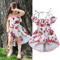 Floral Toddler Kids Baby Girl Clothes Romper Bodysuit Jumpsuit Outfits Dresses