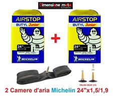 2 Camera d'aria Michelin 24x1,5/1,90 valvola Regina/Italia per bici 24 City Bike