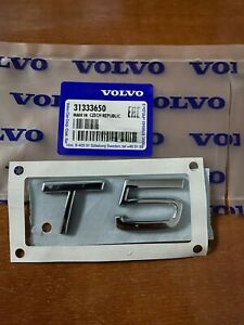 New Genuine VOLVO T5 REAR BADGE XC90 XC70 XC60 V70 V90 V60 V50 C30 C70 S40 S60