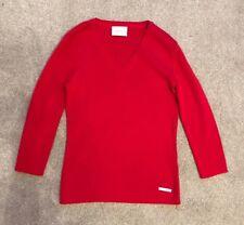 LIZ CLAIBORNE RUBY RED JUMPER. Size XS. 100% Cotton. Rrp £45.