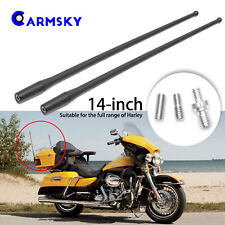 Pair 14'' Antenna For 1989-2017 Harley Davidson Electra Glide Road Tour Classic