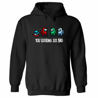 AMONG US IMPOSTERS HOODIE FUNNY GAMING COOL RETRO CHRISTMAS GIFT CREWMATE SUS