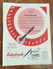 1948 Esterbrook Matched Fountain Pen & Pencil Sets Ad