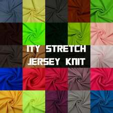 "60"" ITY Stretch Jersey Knit Fabric Twist Yarns ITY - 200 GSM - Style 450"