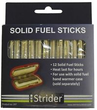 Strider Solid Fuel Sticks Pack Of 12 Refill Rods For Handwarmer Hand Warmer