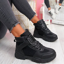 WOMENS LADIES HIGH TOP ANKLE BOOTS TRAINERS CHUNKY PARTY WOMEN SHOES SIZE
