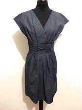 MAX & CO. Abito Vestito Donna Cotone Denim Cotton Woman Dress Sz.XS - 38
