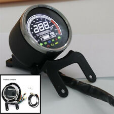LCD Digital Odometer Trip Speedometer 12000RPM Tachometer Gauge Fuel Level Gauge