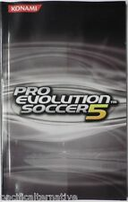 Notice de PRO EVOLUTION SOCCER 5 pes 5 playstation 2 PS2 booklet manual livret