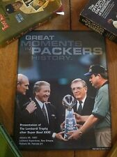 Super Bowl Xxxi Lombardi Great Moments In Green Bay Packers History Poster Qty