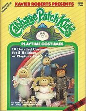 Cabbage Patch Kids PLAYTIME COSTUMES Xavier Roberts Sewing Pattern Book NEW OOP