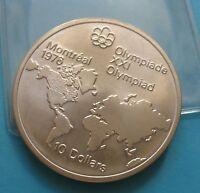 10 dollari canadesi XXI Olimpiadi Montreal 1976 in Argento - SPL - nr. 743