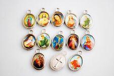 Wholesale 50Pcs Religious Crosses Enamel Medals Charms Pendants Cross 15mm