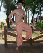 Thai Fisherman Pants Trouser YOGA Massage Rayon Cotton Long Warp Unisex #6