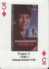 Project X RARE 1988 CBS Fox Promotional Playing Card Matthew Broderick