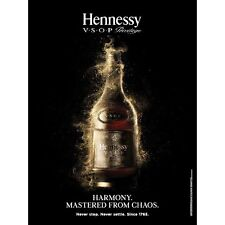 "Hennessy vsop. ""chaos"" poster  18 by 27. new"
