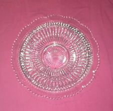10.5� Round Glass Etched Plate Dish