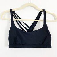 Lululemon Sports Bra Strappy Back Black Yoga Gym Run Cross Athletic Extra Small