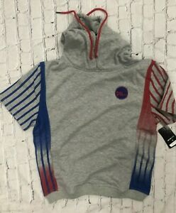 NWT FISLL SF San Francisco 49ers Hoodes Shorts sleeves Sweatshirt *M