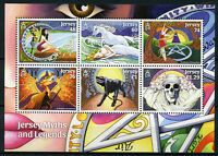Jersey 2016 MNH Myths & Legends 6v M/S Fairies Dragons Witches Ghosts Stamps