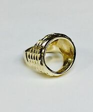 14K Mens RING MOUNTING for GENUINE INDIAN HEAD 2 1/2 DOLLAR GOLD COIN