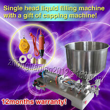 pneumatic 1 head filling machine for cream shampoo cosmetic with capper,2500ml