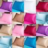 50X70cm Queen Satin Silk Pillowcase Silk Soft Pillow Case Cover Home Bedding