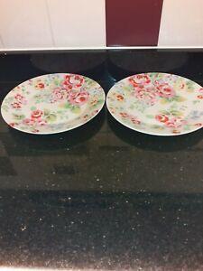 Cath Kidston Spray Flowers Dinner Plates x 2