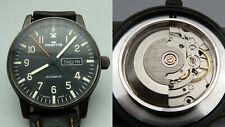 JKUU FORTIS Automatic Freeger 595.18.158 Day Date black 40mm läuft Fliegeruhr