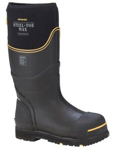 DRYSHOD Men's Steel Toe Max Cold Conditions Black/Yellow Sz 14 Protective Boots