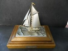 STERLING SILVER ONE MAST YACHT 960 LIMITED EDITION SEKI SAIL BOAT