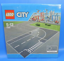 Lego Set 7281/32x32 City Routes plaque/CARREFOUR en T et courbe