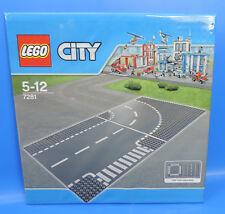 LEGO SET 7281/ 32x32 City Calles Placa / CRUCE EN T y curva