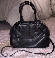 Furla Black Leather Petite Crossbody  Dr. Satchel Bag Made In Italy Excellent