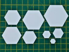 100/250 Hexagon Paper Templates 120gsm-Patchwork Quilting-11 sizes-Free Postage