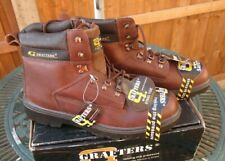 Grafters Steele Toe Safety Boots M769 Brown UK 14 Brand New In Box