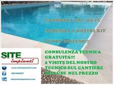 KIT PISCINA 6X12 COMPLETO CON CASSERI IN EPS A RIEMPIMENTO DI CEMENTO