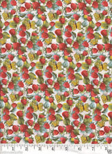 Strawberry Fields White - NEW Quilt Fabric - Free Shipping - 1 Yard