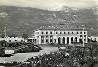 Cartolina di Rovereto, stazione della ferrovia - Trento