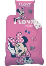 Biber/Flanell Wende Bettwäsche Set Disney Minnie Maus 135x200 80x80cm STYLISH