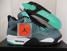 NIKE AIR JORDAN 4 RETRO 30TH TROPICAL TEAL-WHITE-BLACK-RETRO SZ 11 [705331-330]
