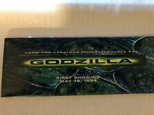 Godzilla Movie 1998 First Showing Theater PromoPacket w/Film Cel Free Shipping