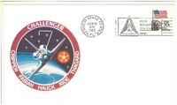 POSTAL COVER vtg NASA STS-7 Space Shuttle CHALLENGER stamp Sally Ride 6/18/83