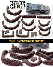 "1/72 Sand Bag Walls Set #2 ""Curved"" - Value Gear War Gaming & Dioramas"