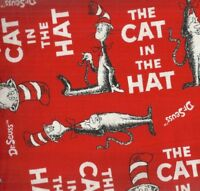 Cat in the Hat red Dr Seuss Kaufman fabric
